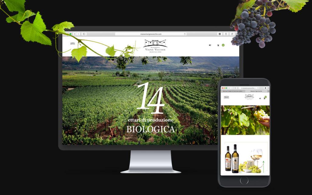 """sviluppo-piattaforma-e-commerce-per-azienda-vinicola cantina biologica """"Masseria Vigne Vecchie"""